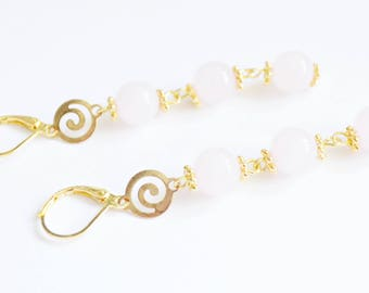 Rose Quartz petite earrings