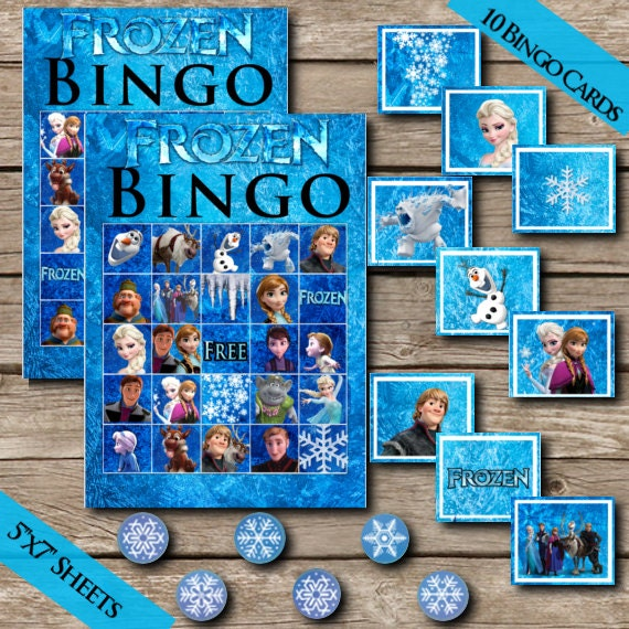 20 Frozen Bingo Cards Digital Download Printable Bingo Game