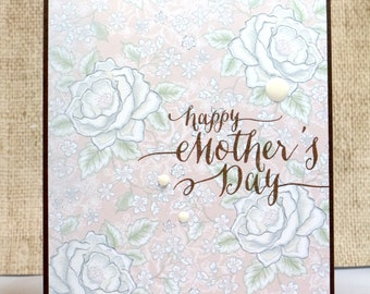 Mother's Day Card- Happy Mother's Day- Mom Card- Mother's Day Handmade- For a Friend- Grandma Card