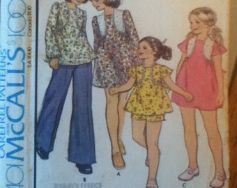 "McCall's Girls' Dress or Top & Shorts Pattern 4401 Girl's Size: 10, Breast 28"", Waist 24"", Hip 30"""