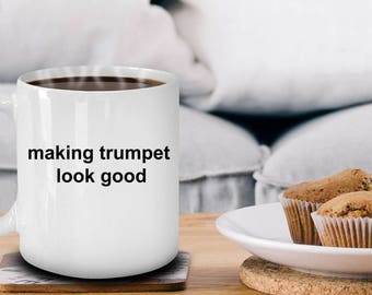 Trumpet Player Coffee Mug Makes a Great Musician Gift