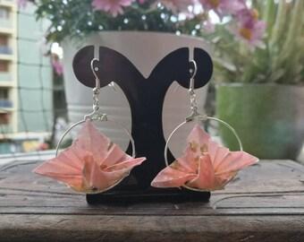 Origami Peacock earrings