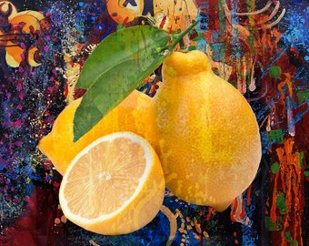 Lemons Oil Painting on a High Quality Linen Canvas 80cm x 60cm