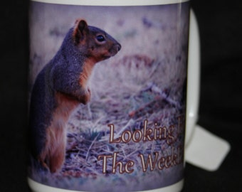 Looking For The Weekend Squirrel Mug!