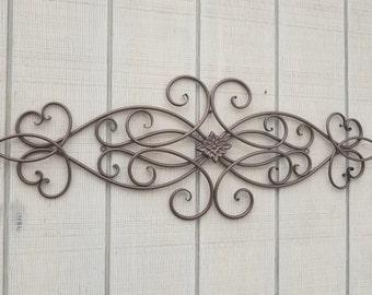 Iron Wall Decor / Metal Wall Decor / Cabin Decor / Iron Scroll / Wrought  Iron Decor / Swirls / Metal Home Decor / Heart Decor / Headboard