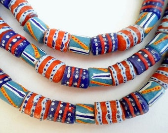 45 various beads of glass from Ghana - mixgb53