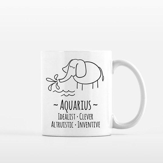 Aquarius Mug Aquarius Gift for Him Aquarius Zodiac Gift for Her Zodiac Mug Zodiac Sign Gift Horoscope Gift Astrology Gift Coffee Mug