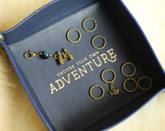Birdwatching Bronze Stitch Markers for Knitting - Twisted Bronze Rings - Nature Notions - For Knitters