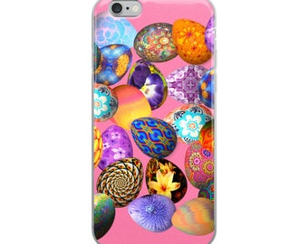 All Over Easter Eggs on Pink Cell Phone Case iPhone Case 6 Plus, 6/6s, 7 Plus, 8 Plus, X