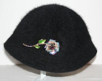 Bijoux Terner Black Angora Hat