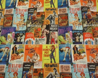 Pin Up Girl Shirt Pulp Novel Covers Made to Order up to size 4XL