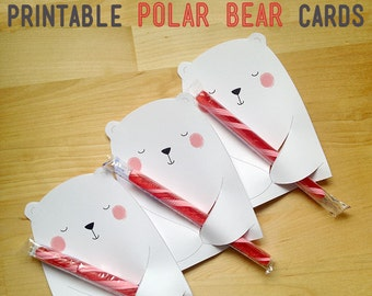Printable Valentine's Cards - Polar Bears