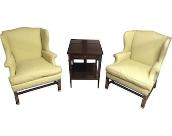 Vintage Small Scale Wing Chairs (Pair)
