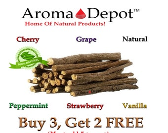 1 oz. Licorice Root Chew Sticks 100% Natural Organic Liquorice Buy 3, get 2 FREE Leave us a message claiming your 2 free bags! MUST BUY 3