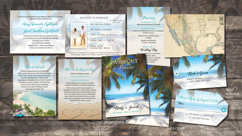 Pass Hochzeit Einladungen Broschüren für Hochzeiten