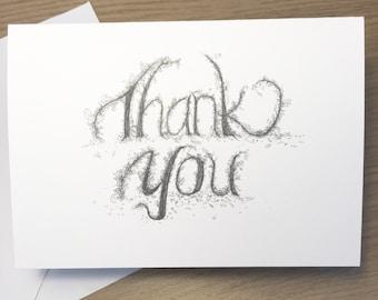 Thank you card | Wedding thank you card | Wedding stationery | Appreciation | Greenery | Blank Inside