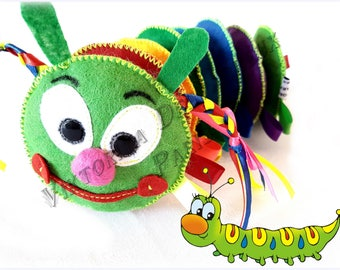 Color Matching Game Caterpillar, Rainbow Sorting and Colour Matching Toy, Sensory Development Toy, Toddler  Busy Bag, Color Recognition