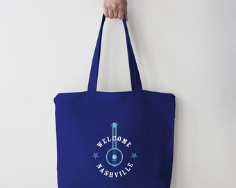 Welcome to Nashville Tote Bag (banjo)