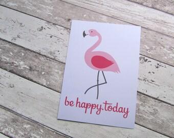 """Bild, Poster, Typographie, Druck, Kunstdruck """"be happy.today"""" von Frollein KarLa"""