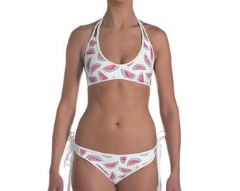 Watermelon Slices Summer Bikini