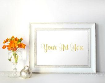 Frame mock up,Styled Stock Photography  / Product Styling / Digital Background / mock up digital download