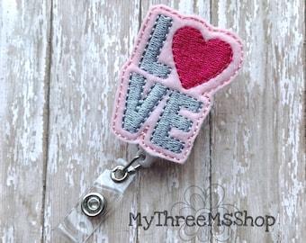 Love Heart Feltie Badge Reel, Nurse Badge Holder, Teacher Id Name Tag Badge Pull, Retractable Badge Reel, Love Badge Clip Holder