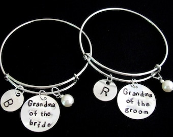 Grandma Of The Bride,Grandma Of The Groom Bracelet, Wedding Party gift,Nana of Bride,Nana of Groom gift,Mother In Law gift,Free Shipping USA