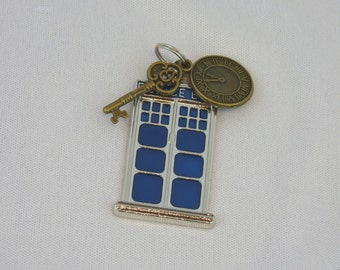 Doctor Who TARDIS key - necklace, key ring, or zipper pull
