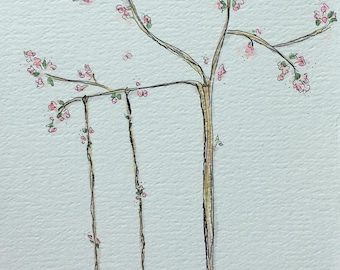Swing with Cherry Tree