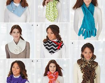 UNCUT Simplicity 1235 Scarf Sewing Pattern Winter Scarf, Fleece, Warm