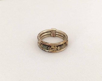 Vintage Sterling Silver Band Ring Size 6.75