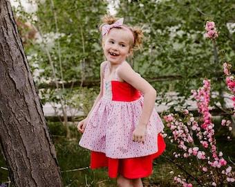 Charli - Girl's twirl dress, handmade girl's dress, boutique dress, toddler boutique dress, twirl dress, floral girl's dress, baby dress