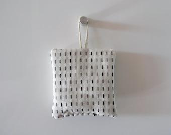 white lavender sachets - minimal - modern home decor - black grey and white lavender sachtes- lavender pillow
