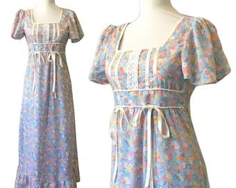 1970s Maxi Prairie Dress — XS