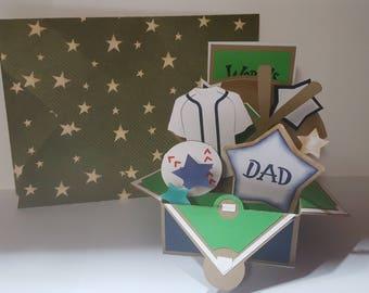 Fathers Day Baseball Card