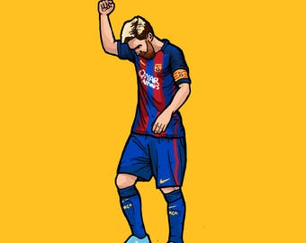 Lionel Messi - Barcelona - Illustration
