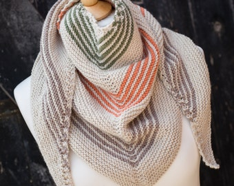 Hand Knit Shawl, Wrap, Scarf - Luxury Cashmerino; Hand Knit; womens accessory, mens accessory; READY TO SHIP