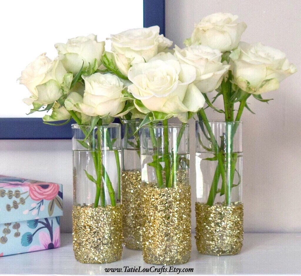 Gold dipped vase gold wedding decor glitter dipped vases zoom reviewsmspy