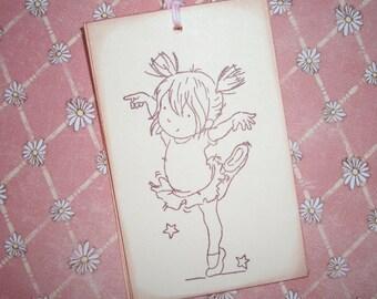Little Ballerina  Tags - Little Dancer Tags - Ballet Tags - Set of Six