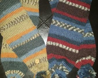 Fairisle inspired scarves
