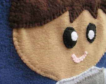 Biracial Prince Baby Blanket - Fleece Baby - Fleece Blanket - Baby Boy Blanket - Baby Shower Gift - Baby Boy Shower - Baby Boy - SHIP READY