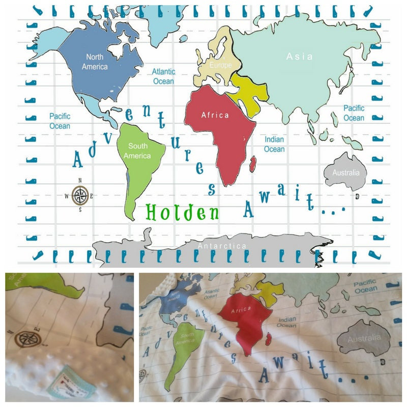 World map personalized 2 layer blanket red 2 sizes many text colors world map personalized 2 layer blanket red 2 sizes many text colors colorful custom kids toddler name blanket nursery decor baby gift gumiabroncs Image collections
