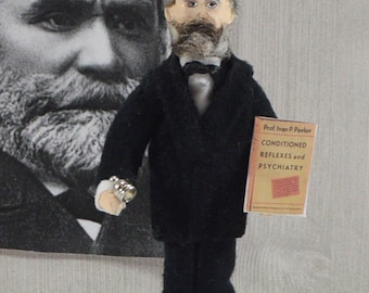 Ivan Pavlov Psychology Art Behavior Science Collectible Figure Miniature Art