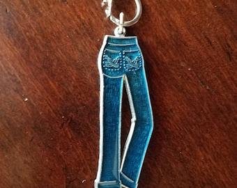 Blue Jeans Key Chain