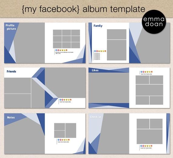 "Photobook Album Template, 12x12"" Photobook Template, Digital ..."