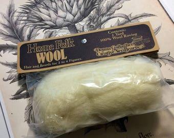 Home Folk 100 % Natural Wool Roving Destash