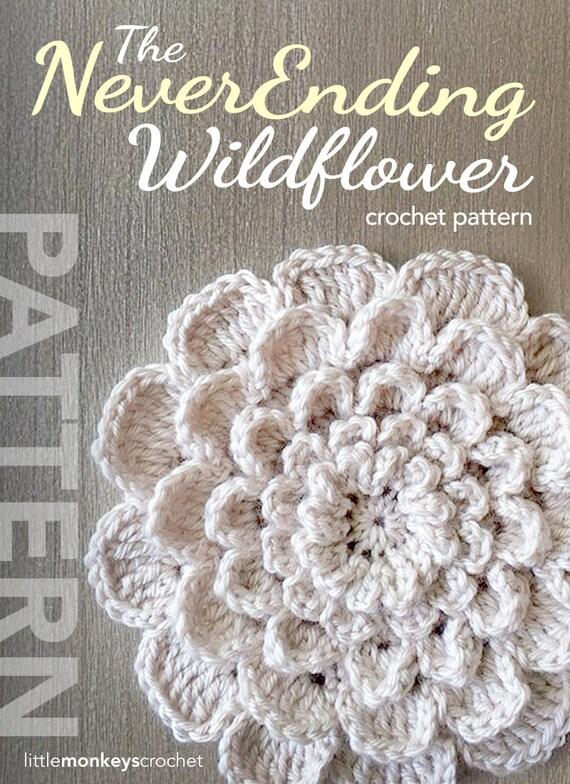 Crochet Flower Pattern PDF The Neverending Wildflower Crochet