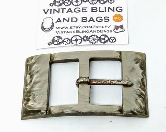 39x70mm Vintage buckle, taupe buckle, art deco buckle, art deco, buckle, lucite buckle, belt buckle, vintage belt buckle, vintage buckle #37