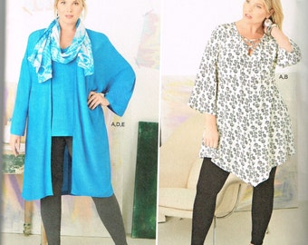 Sewing pattern for plus sized women's tunic or jacket sizes 18W - 24W