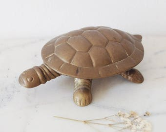 Vintage Brass Tortoise Pot, Ash Tray, Snuff Box, Ornament